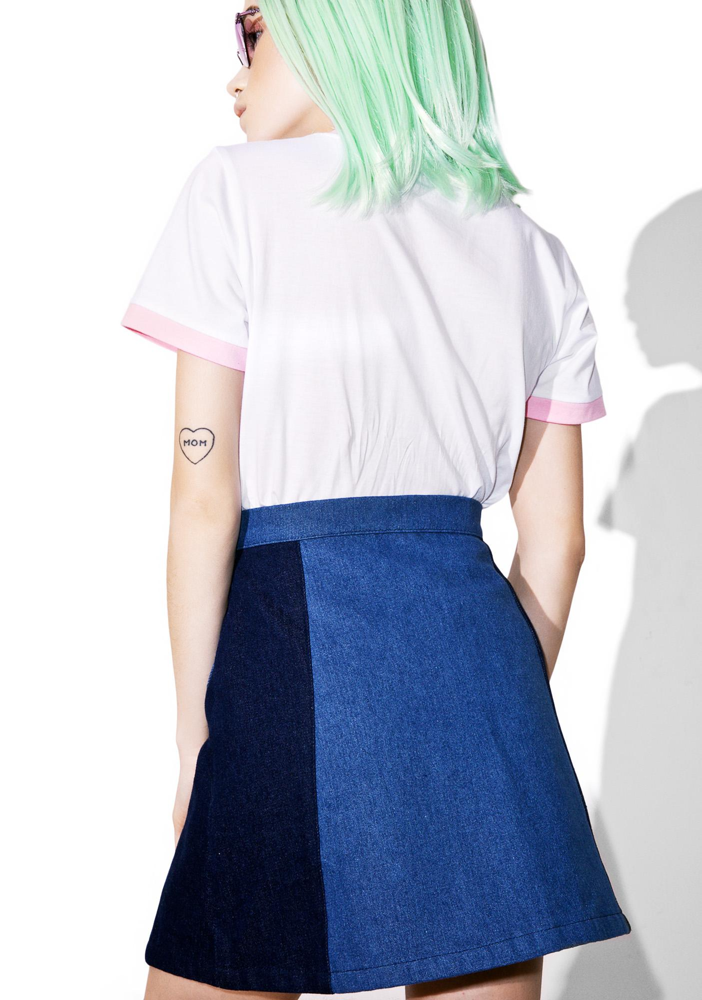 Sugarpills Denim Heart Skirt