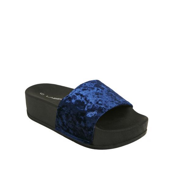 Paxton Velvet Slides