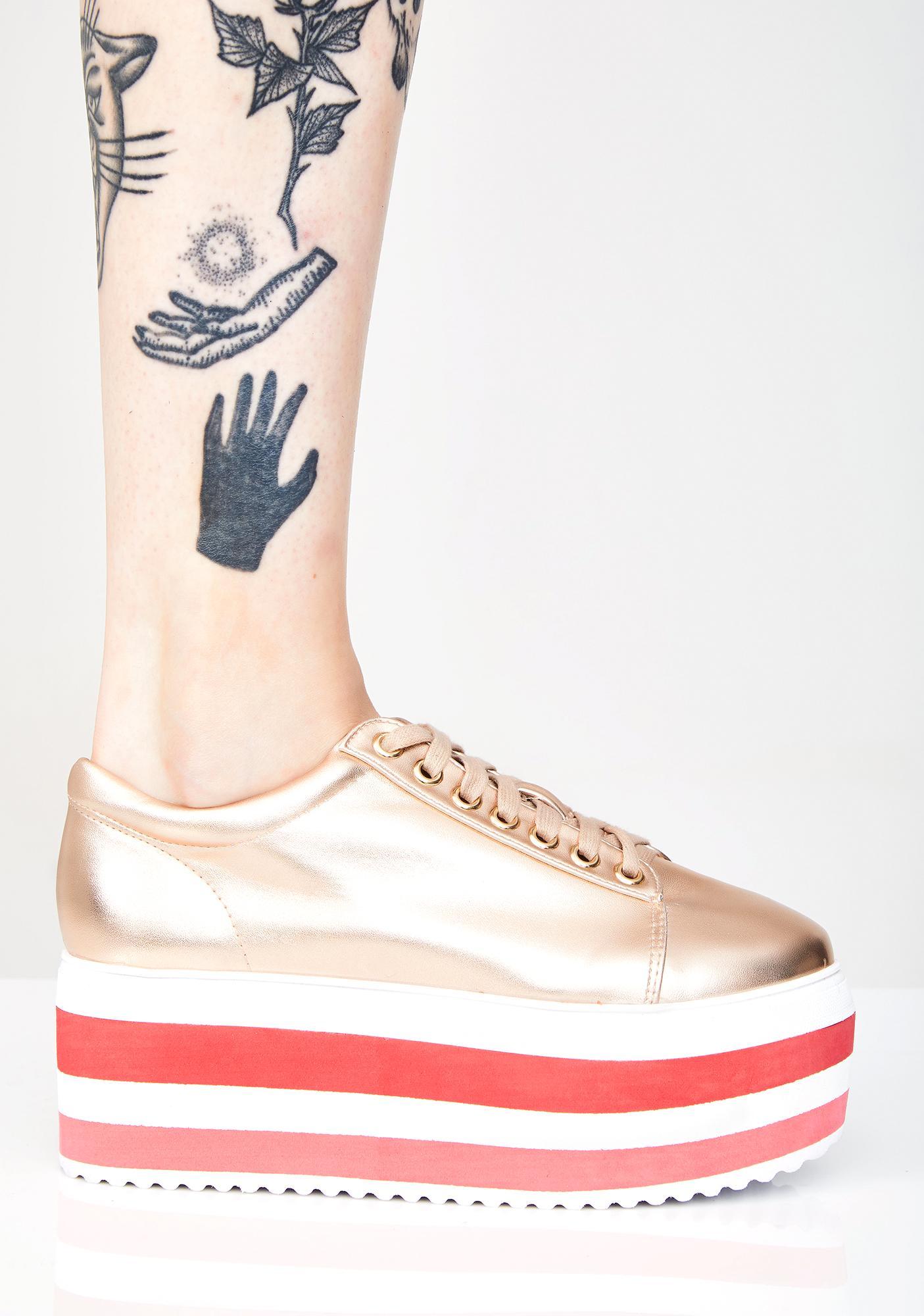 Glowin' Space Invaders Platform Sneakers