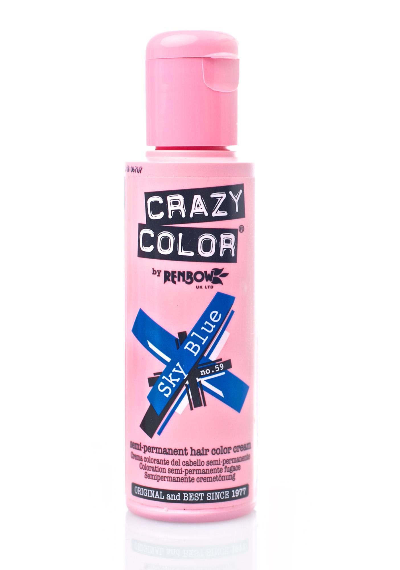 Crazy Color Sky Blue Hair Dye