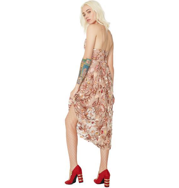 For Love & Lemons Botanic Midi Dress