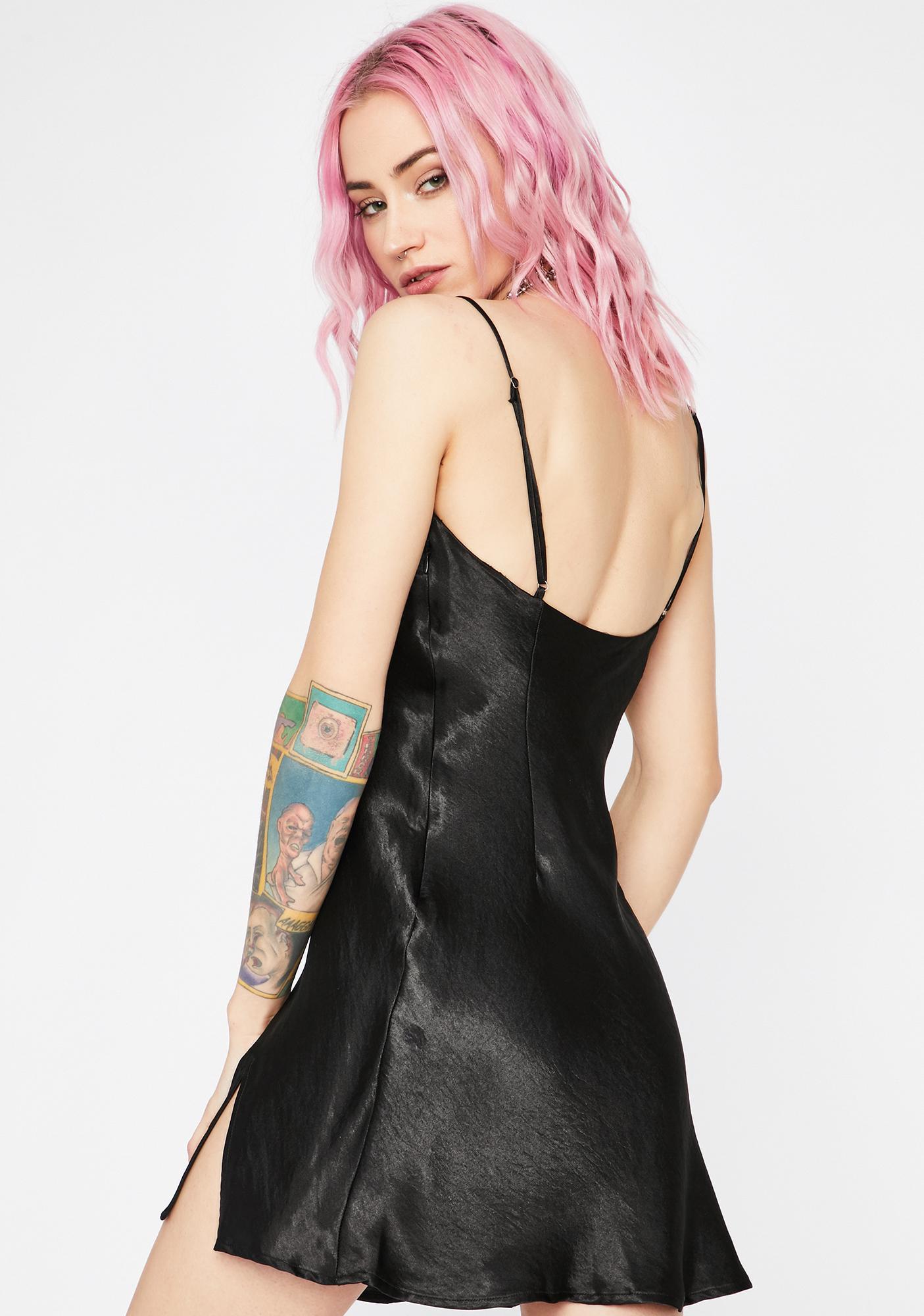 Here To Slay Satin Dress