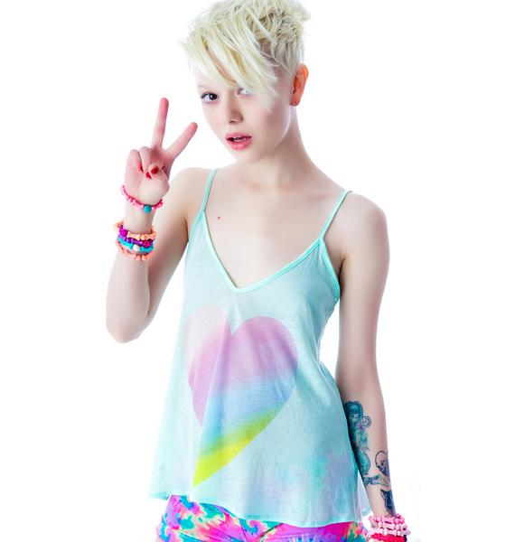 Wildfox Couture Amour Amour Heart Paradise Cami