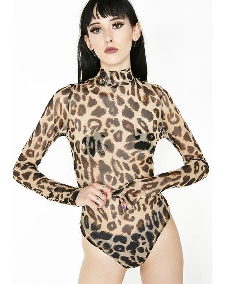 Wild Energy Leopard Bodysuit