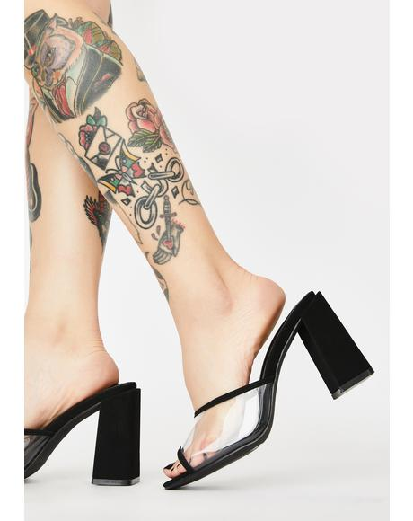 Not Totally Sweet Peep Toe Heels