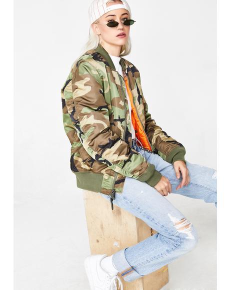 Camo MA-1 Slim Jacket