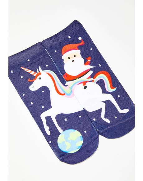 Magical Santa Ankle Socks