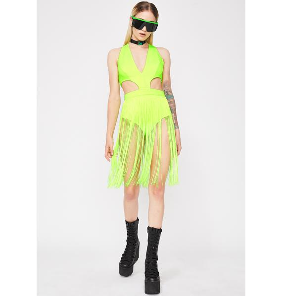 Slime Run Da World Fringe Bodysuit