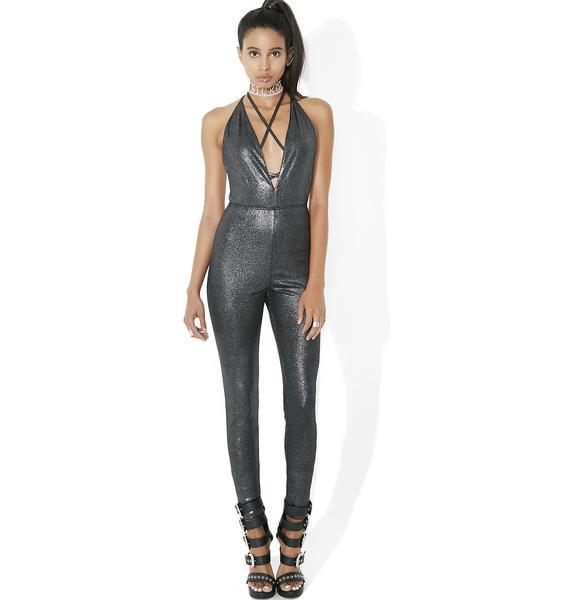 Falling Star Metallic Bodysuit