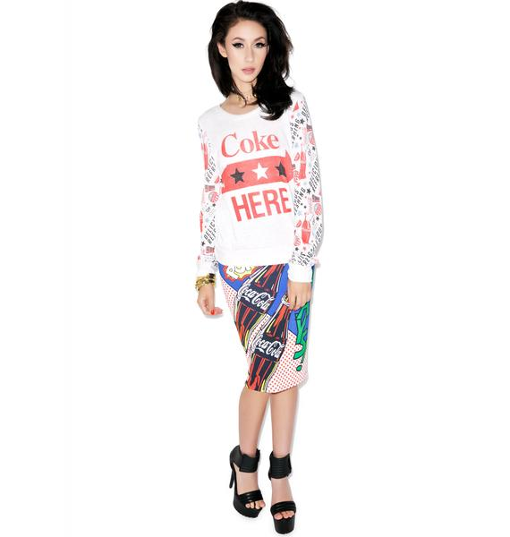 Coke Here Verbiage Sweater