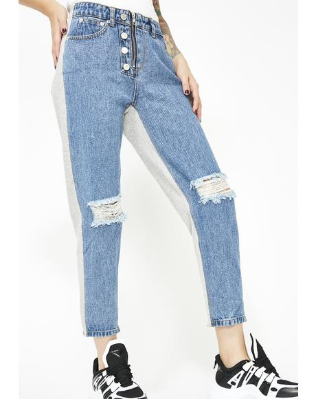 Bring It Back Denim Sweatpants