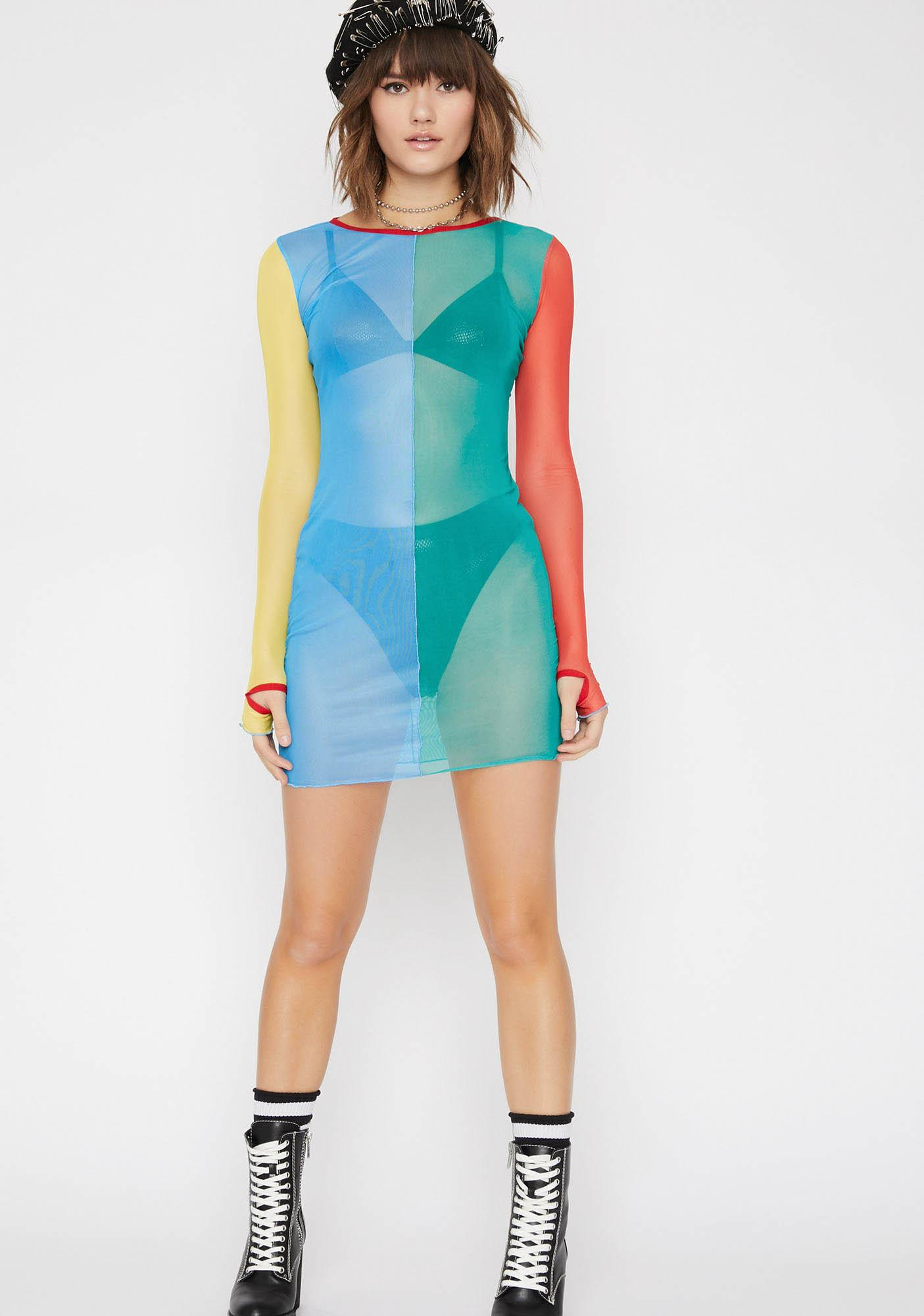 Current Mood Primary Instincts Colorblock Dress