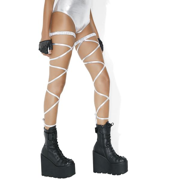 Starla Metallic Leg Wraps