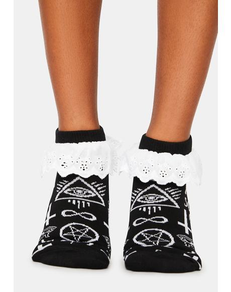 Screw You Ruffle Socks