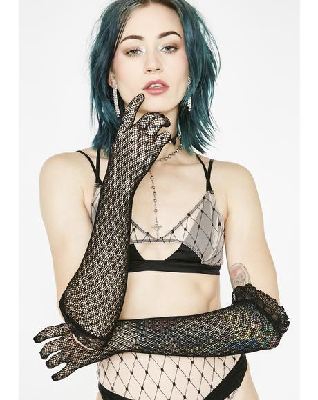 Love Addiction Lace Gloves