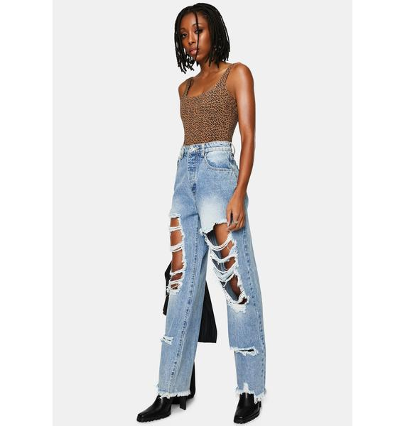Momokrom Light Wash Extra Ripped Boyfriend Jeans