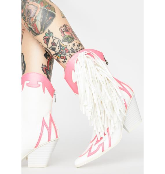 Baby I Own It Fringe Boots