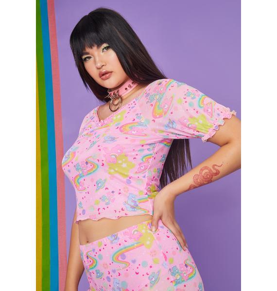 Dolls Kill x Care Bears Wild Rainbow Ride Mesh Top