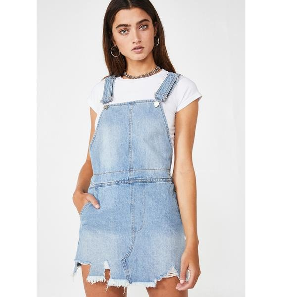Lit Country Overall Dress