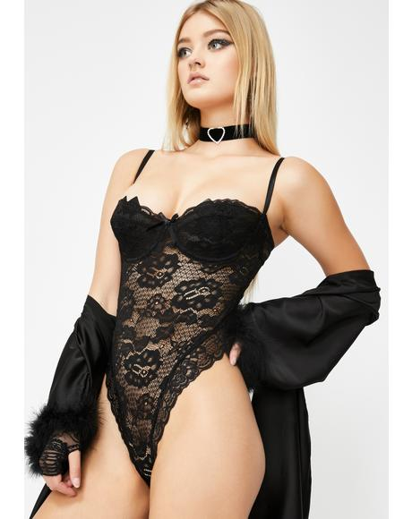 Dark Lavish Lust Lace Teddy
