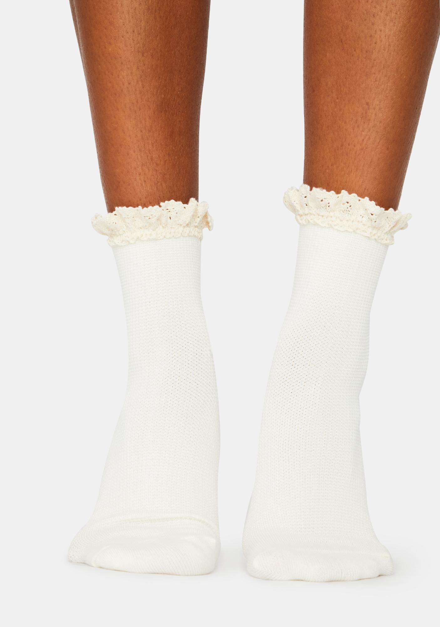 Free People Beloved Waffle Knit Socks