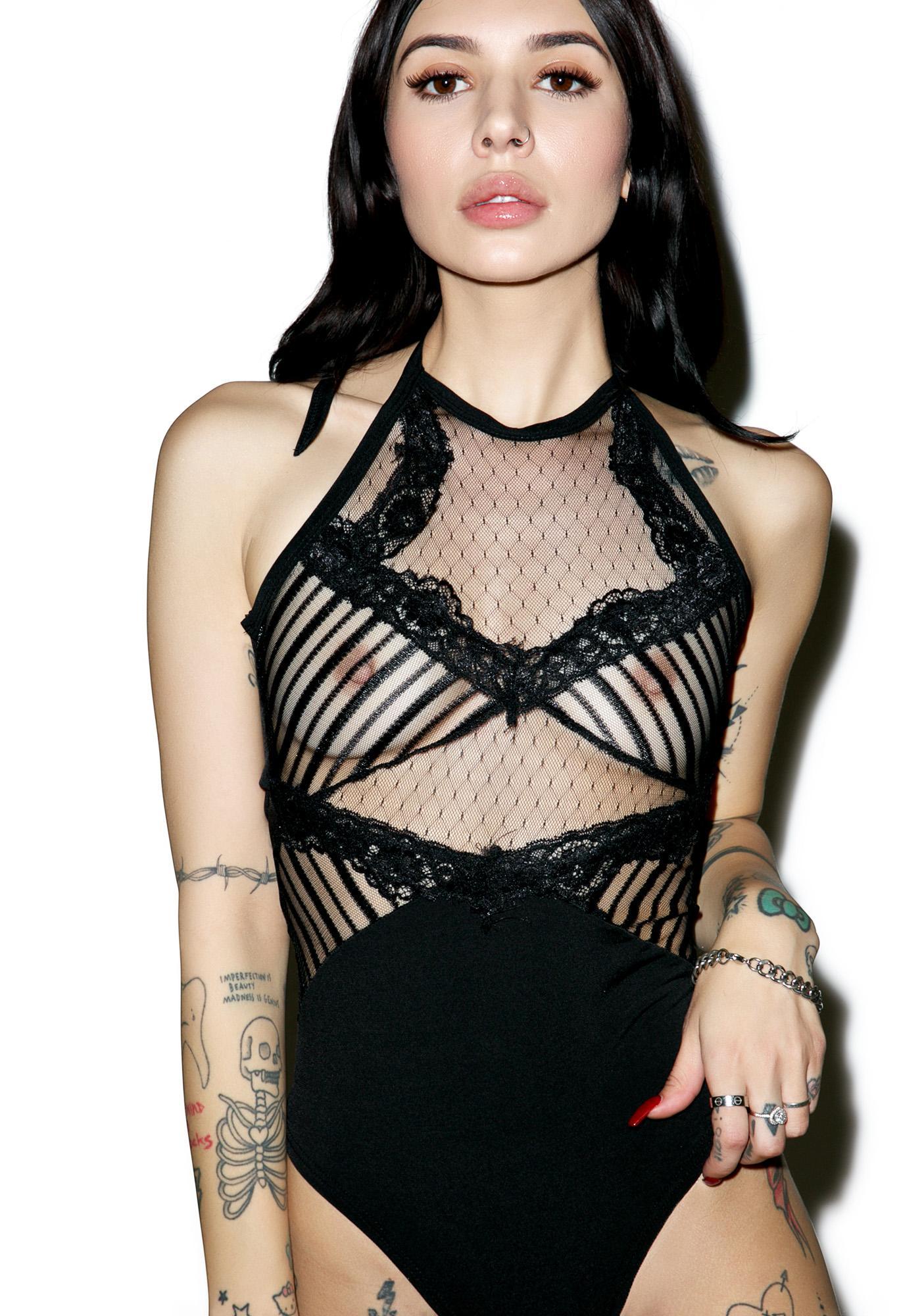 Midnight Calling Lace Bodysuit