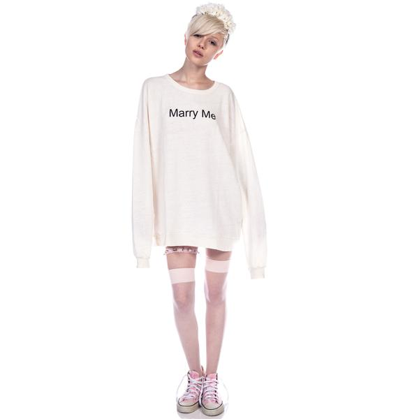 Wildfox Couture Marry Me Juliet Barefoot Sweater