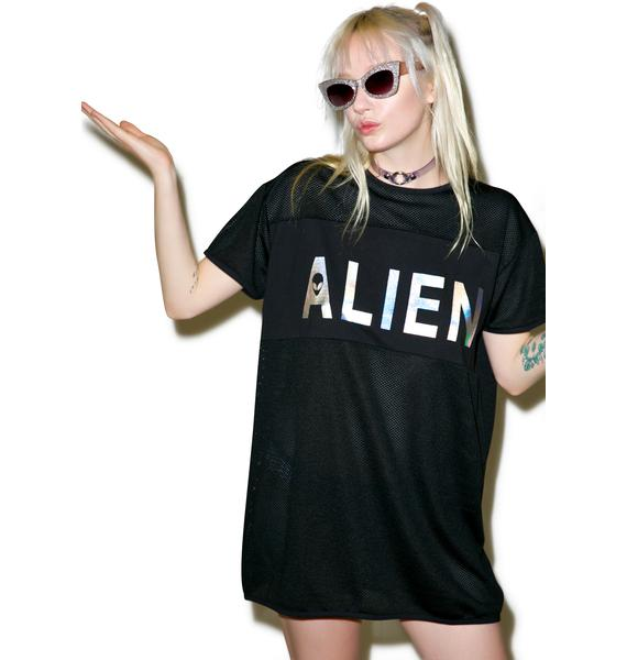 Disturbia Alien Mesh Tee Dress
