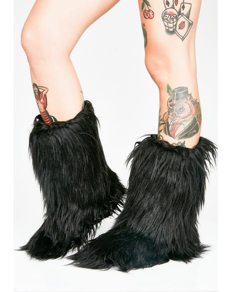 Midnight Furry Slippers