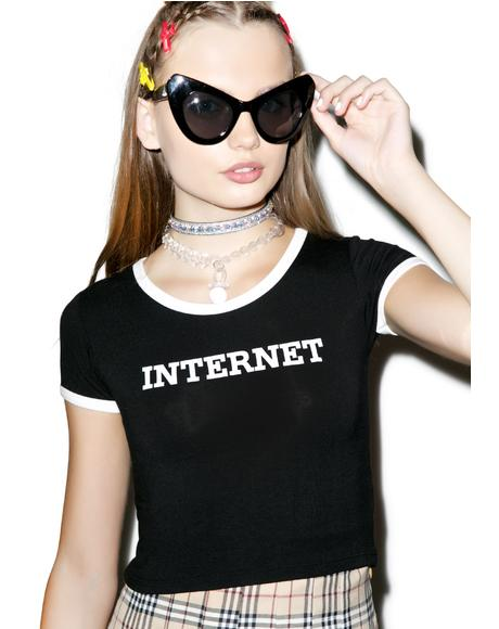 Internet Ringer Tee