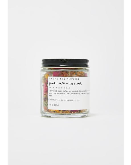 Pink Salt And Rose Bath Soak