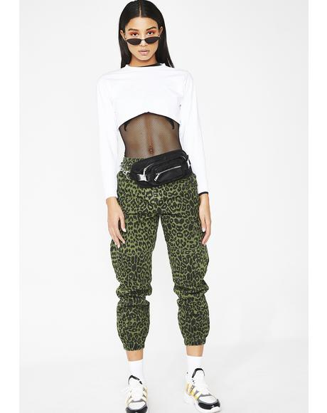 On The Hunt Leopard Joggers