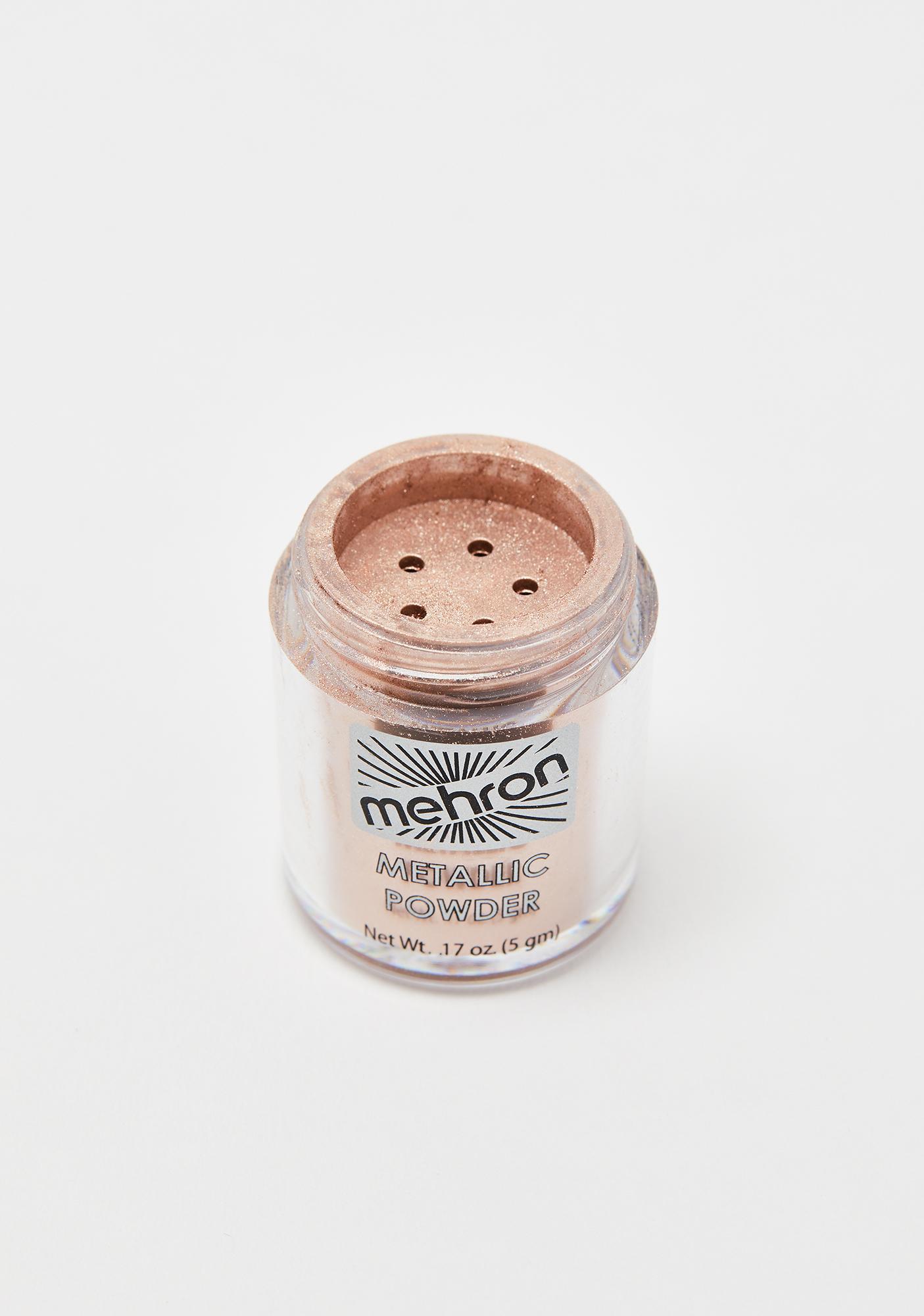 Mehron Rose Gold Metallic Powder With Mixing Liquid