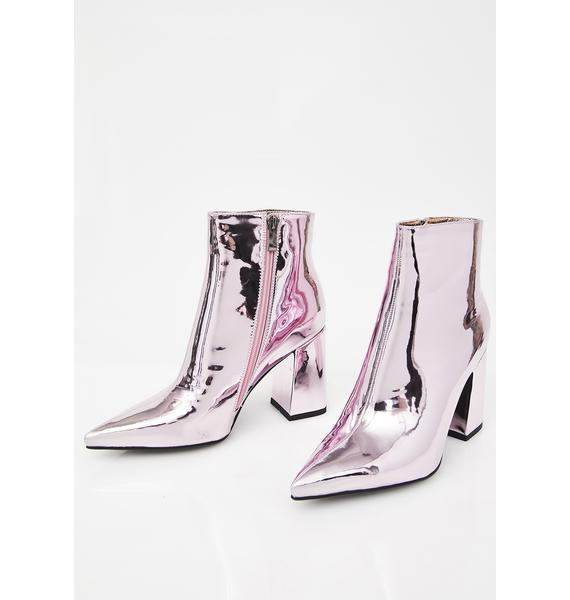 Public Desire Empire Metallic Heeled Ankle Boots