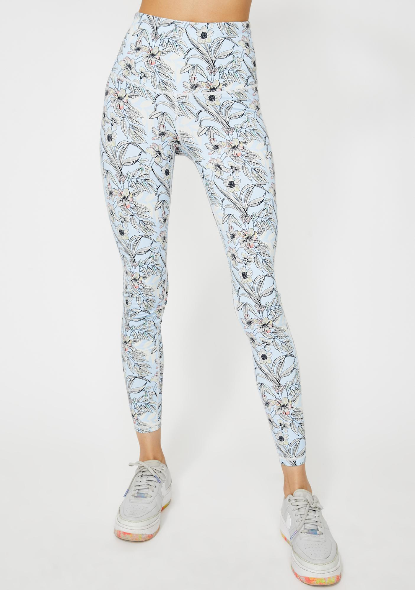Growing Energy Floral Leggings by Dolls Kill