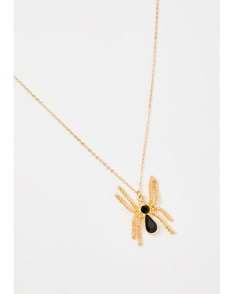 Arachnid Antics Spider Necklace