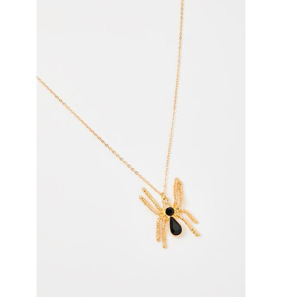 Arachnid Antics Spider Necklace