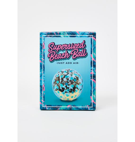 Fun In The Sun Glitter Beach Ball