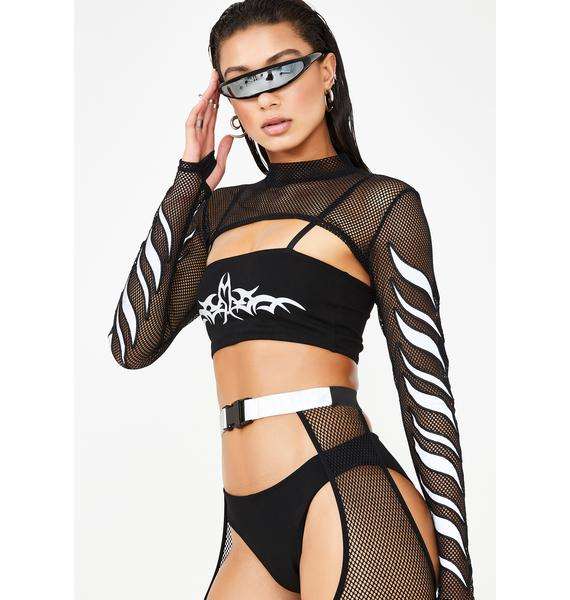 Club Exx Mark Of The Beast Reflective Panties