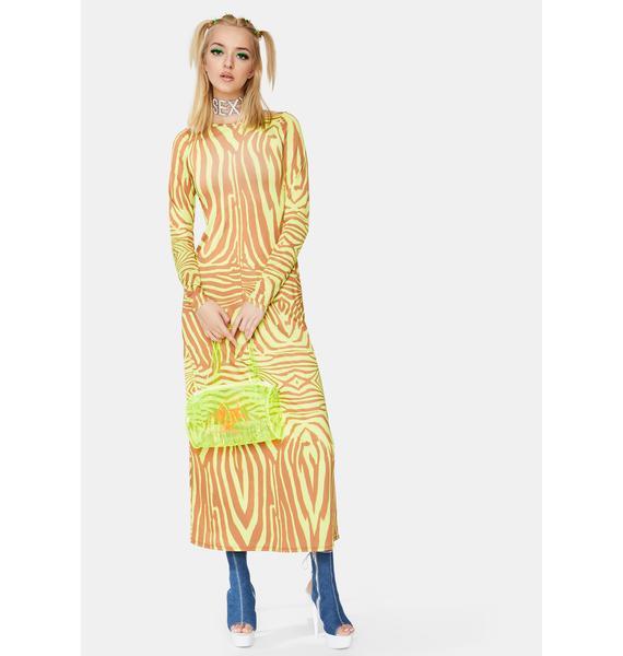 AFRM Abstract Zebra Nollie Dress