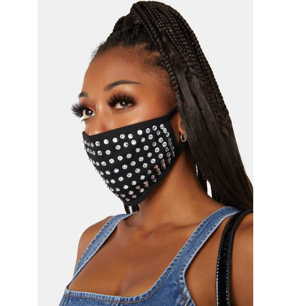 Club Exx Night Shine Rhinestone Face Mask