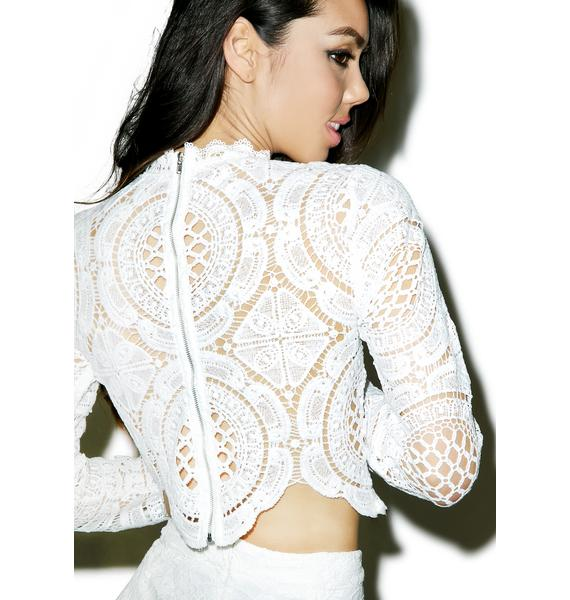 Glamorous Victoriana Lace Crop Top