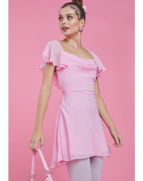 Ballet Bombshell Chiffon Mini Dress