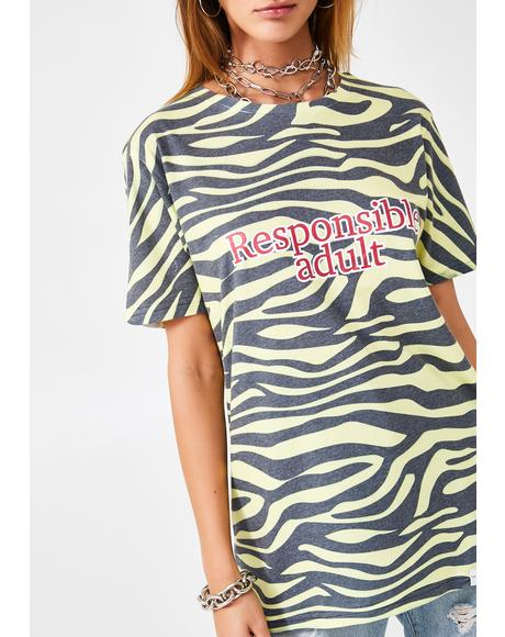 Responsible Adult Graphic Tee