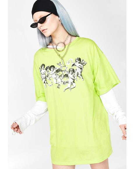Cherub Sunny Kiss Tee Dress
