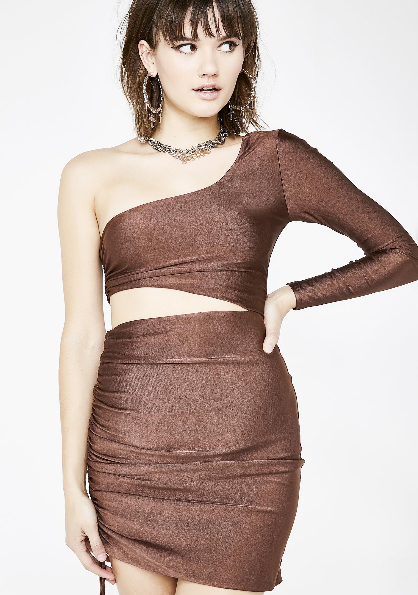 Tiger Mist Skyla Ruched Dress
