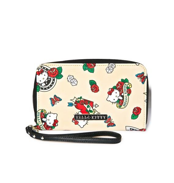 Sanrio Hello Kitty Rose Wristlet