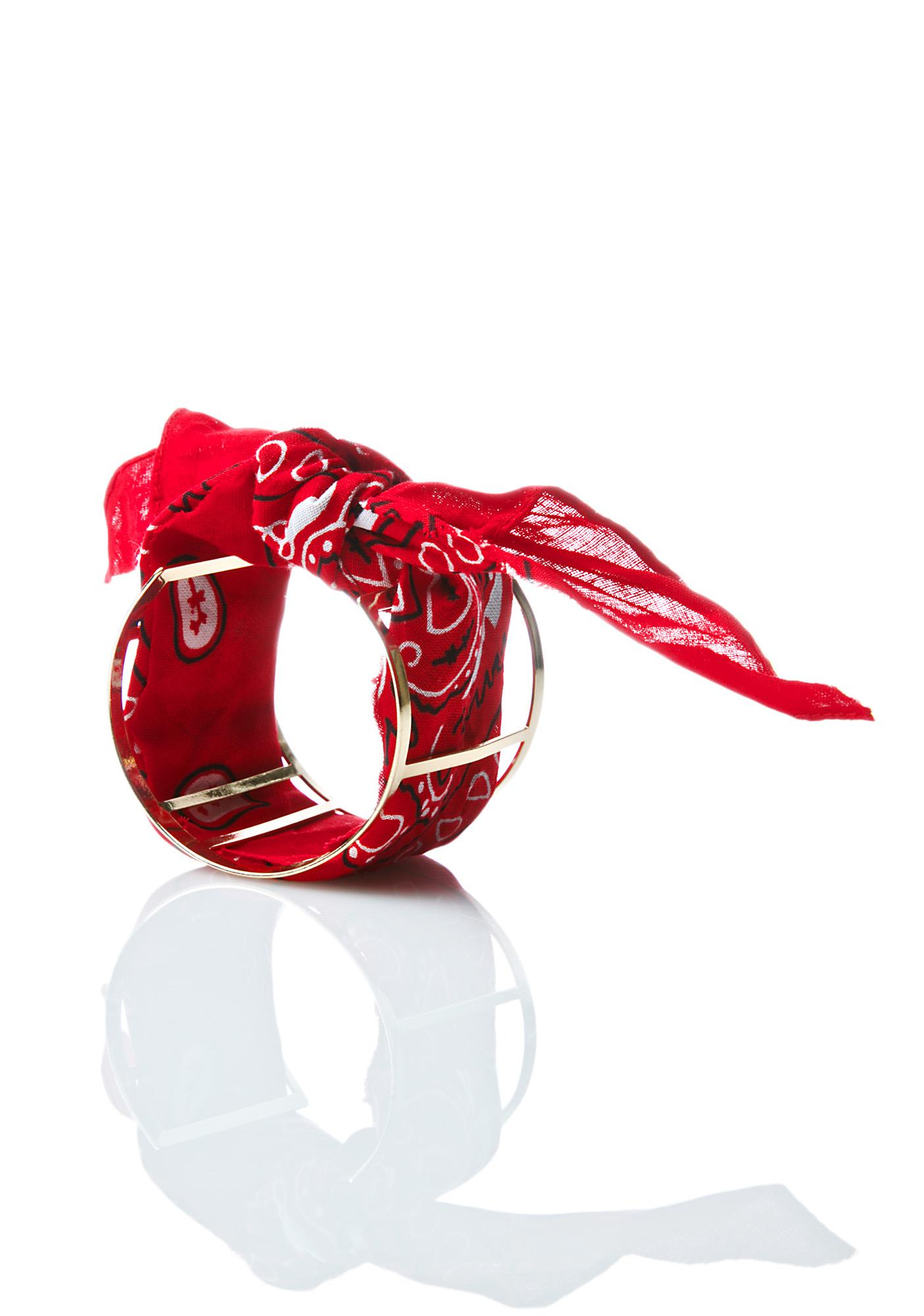 Fiery Throwdown Bandana Cuff
