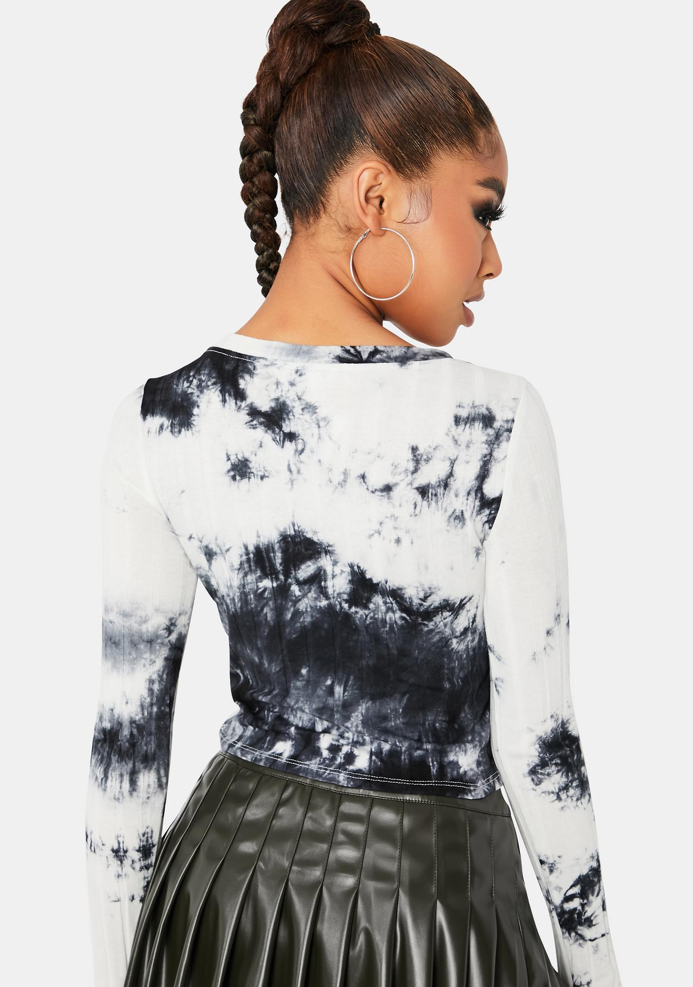 Classic Take over Tie Dye Crop Top