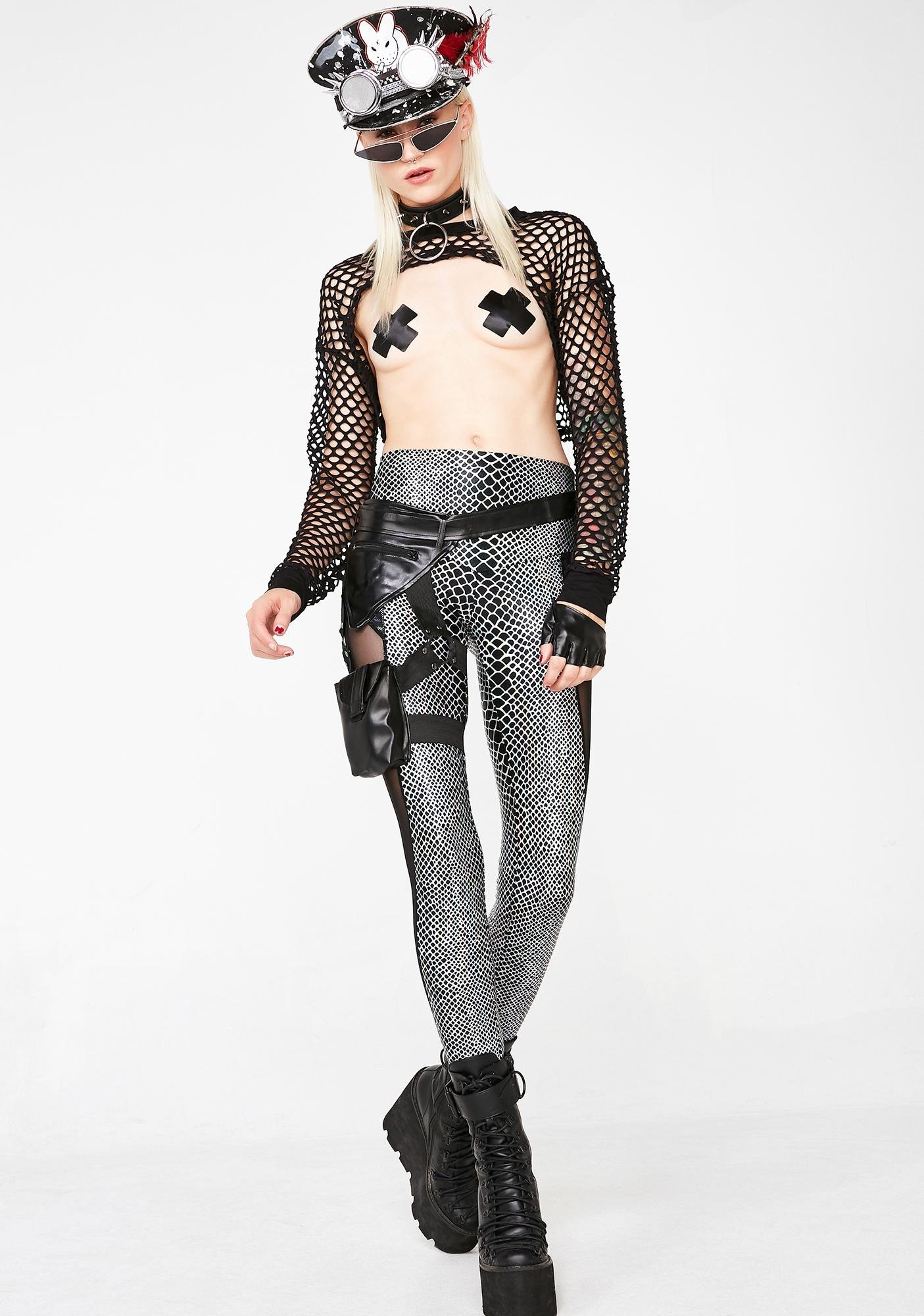 Love Khaos Holographic Python Leggings